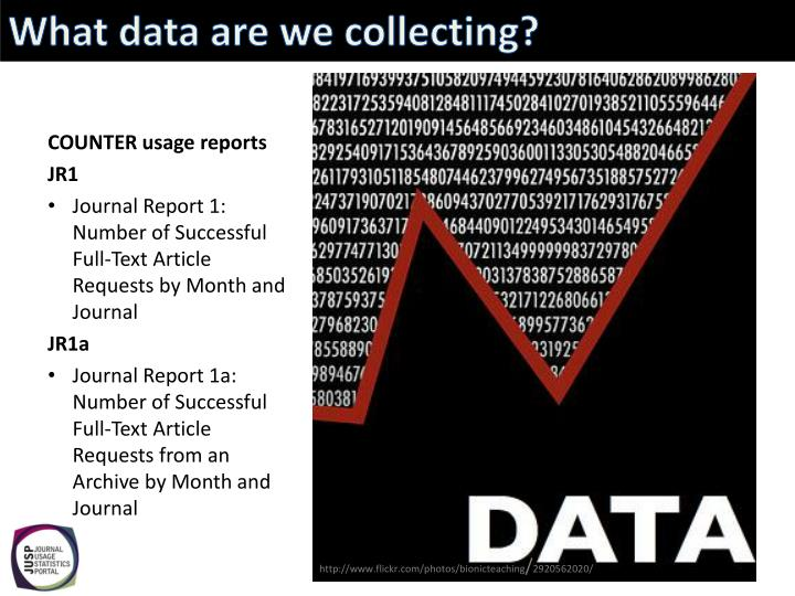 What data are we collecting?