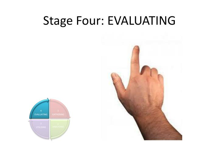 Stage Four: EVALUATING