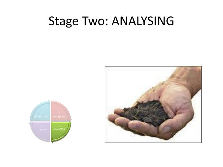 Stage Two: ANALYSING