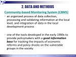 2 data and methods