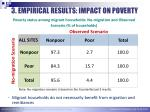 3 empirical results impact on poverty4