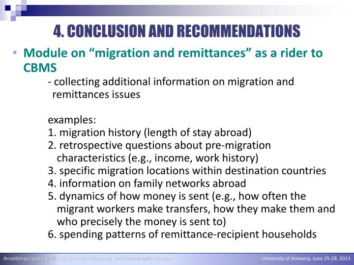 4. CONCLUSION AND RECOMMENDATIONS