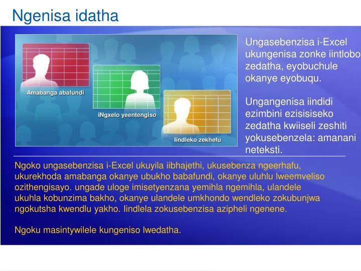 Ngenisa idatha