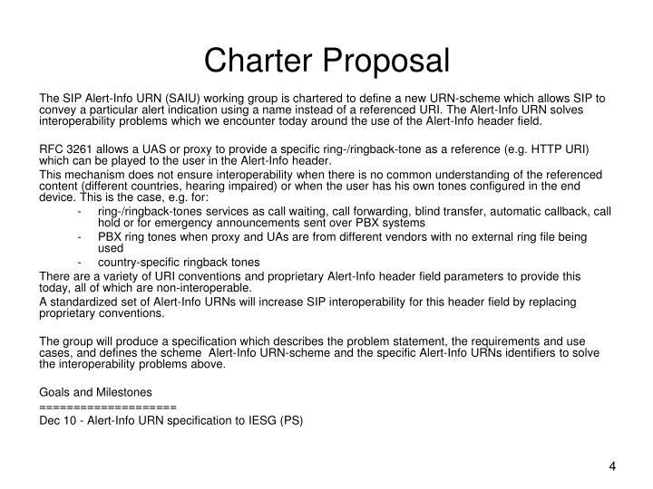 Charter Proposal