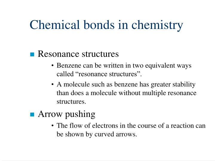 Chemical bonds in chemistry