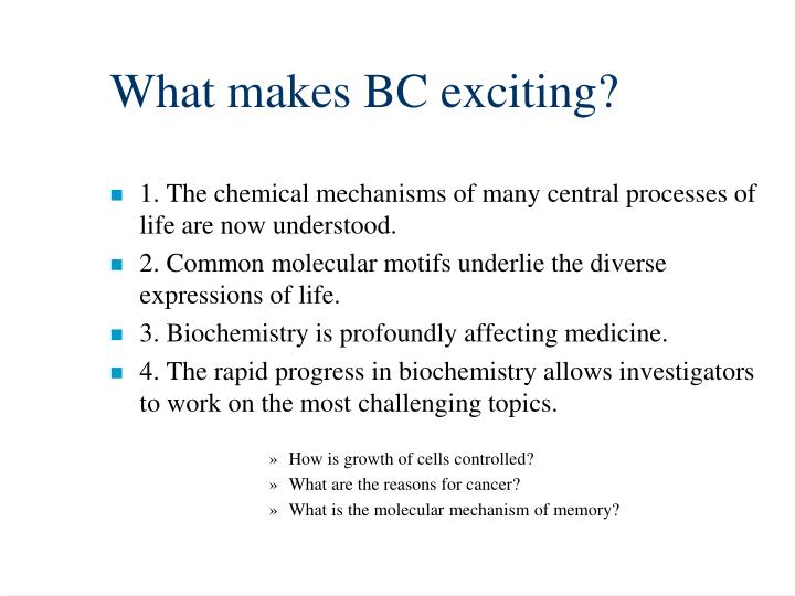What makes BC exciting?