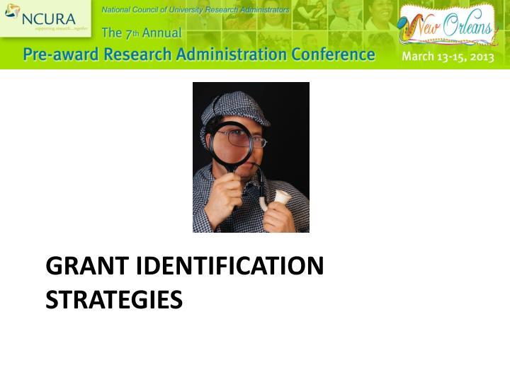 Grant Identification Strategies