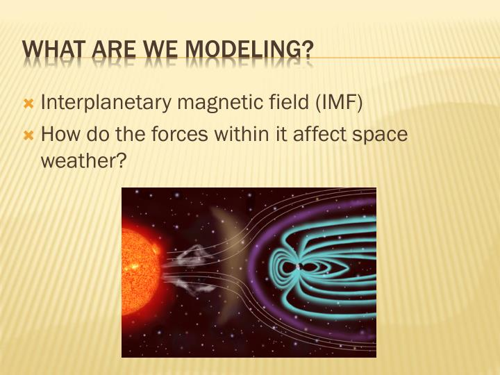 Interplanetary magnetic field (IMF)