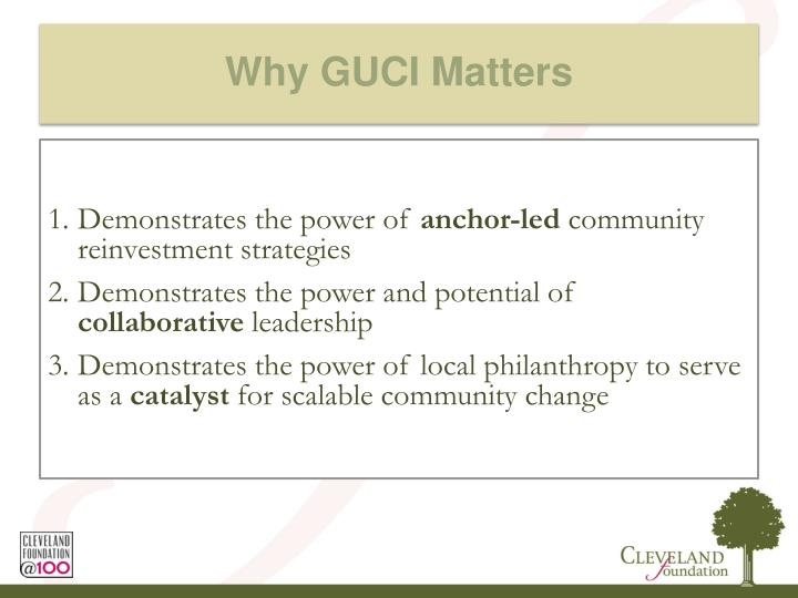 Why GUCI Matters
