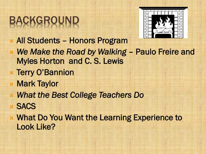 All Students – Honors Program