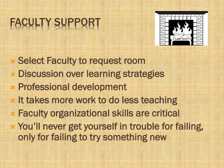 Select Faculty to request room