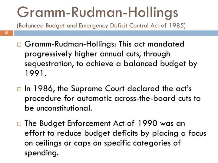 Gramm-Rudman-Hollings