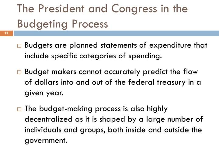 The President and Congress in the Budgeting Process