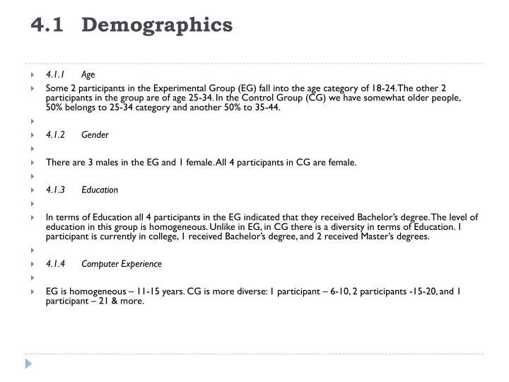 4.1Demographics