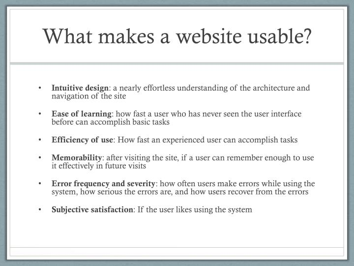 What makes a website usable?