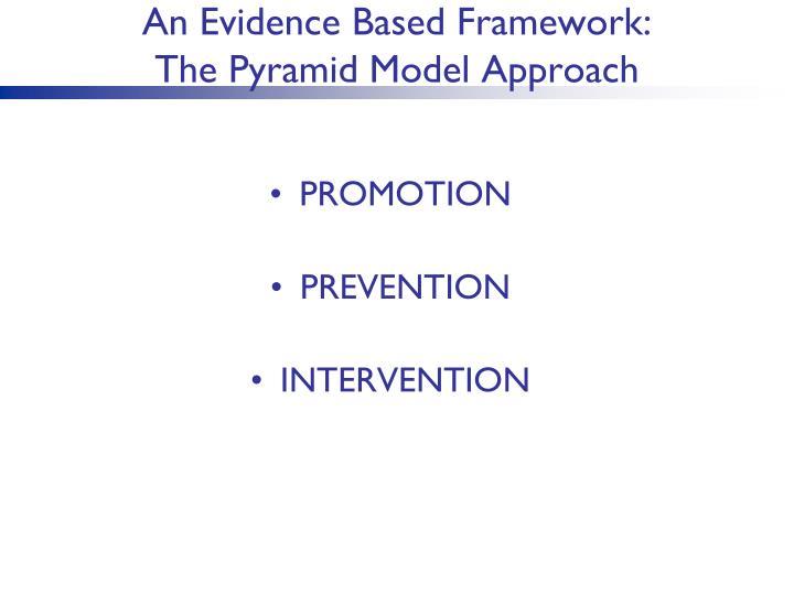 An Evidence Based Framework: