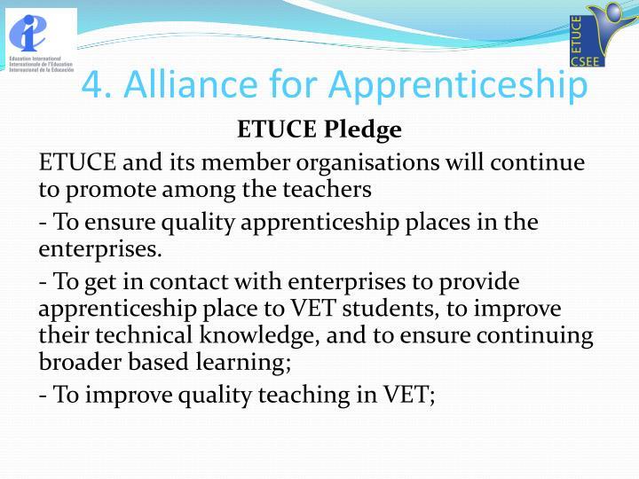 4. Alliance for Apprenticeship