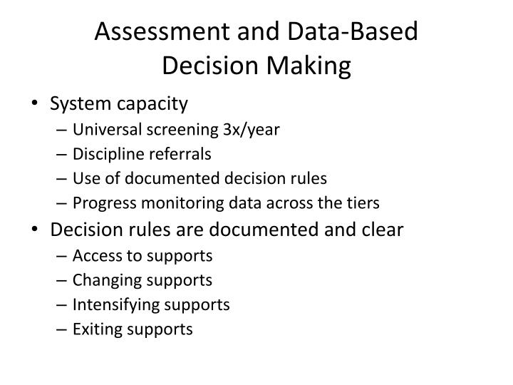 Assessment and Data-Based