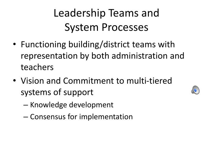 Leadership Teams and