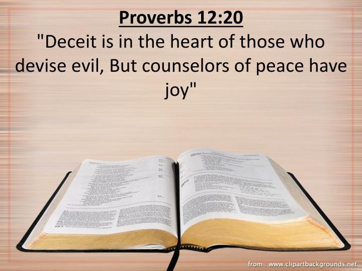 Proverbs 12:20