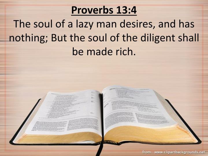 Proverbs 13:4