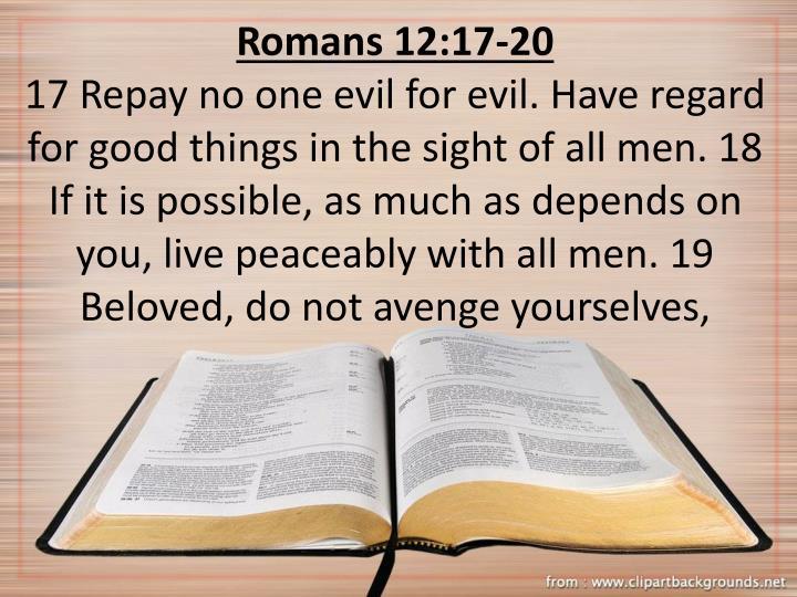 Romans 12:17-20