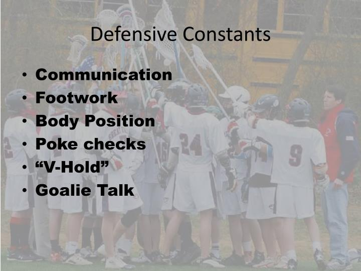 Defensive Constants