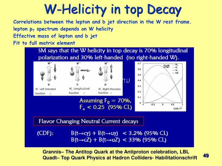 W-Helicity in top Decay