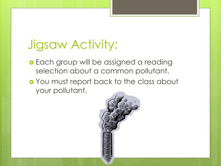 Jigsaw Activity: