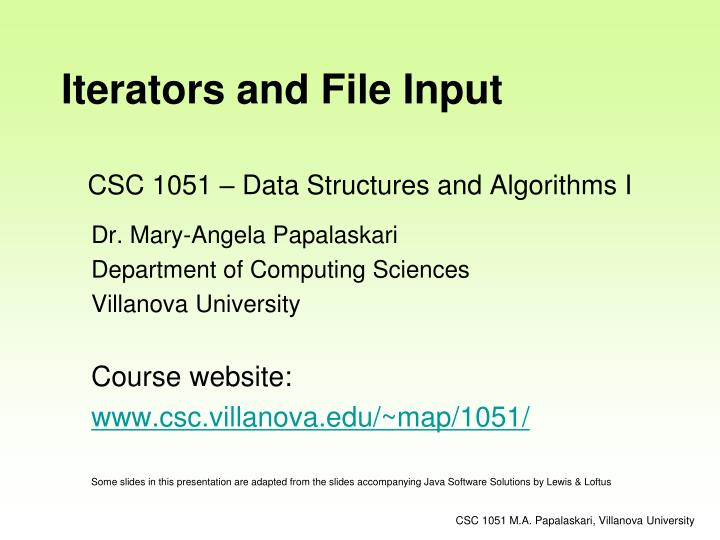 Csc 1051 data structures and algorithms i