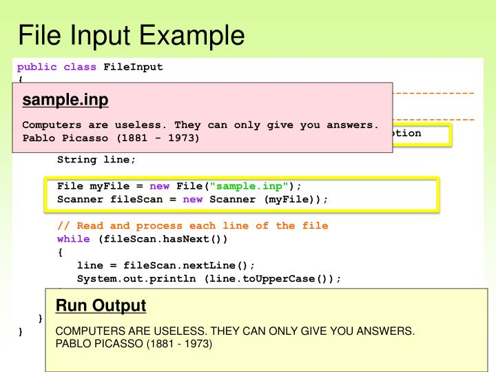 File Input Example