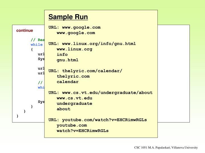 Sample Run