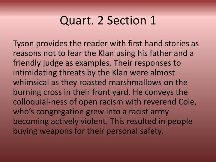 Quart. 2 Section 1