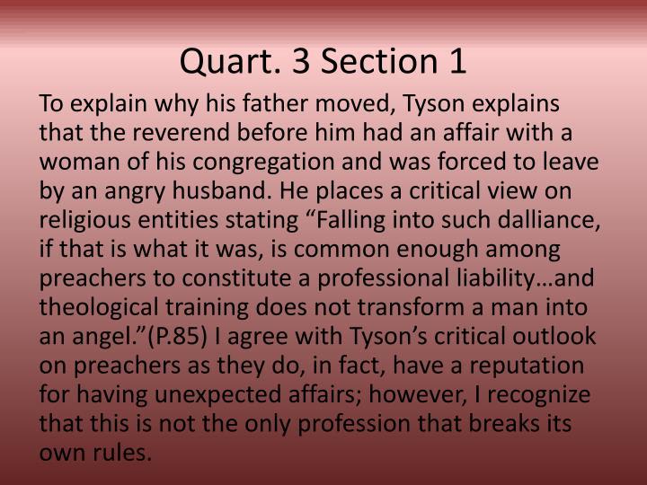 Quart. 3 Section 1