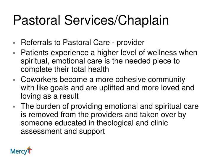 Pastoral Services/Chaplain