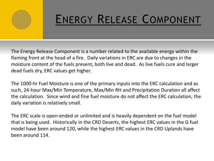 Energy Release Component