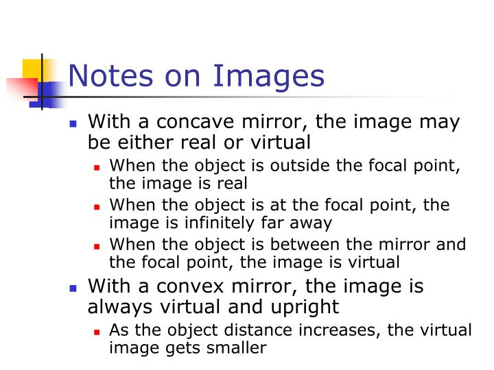 Notes on Images