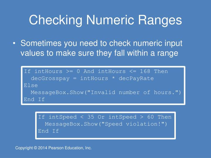Checking Numeric Ranges