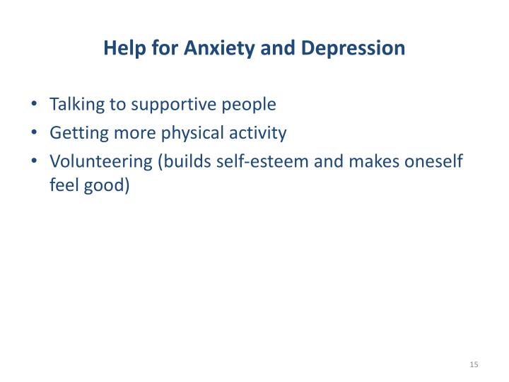 Help for Anxiety and Depression