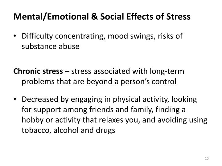 Mental/Emotional & Social