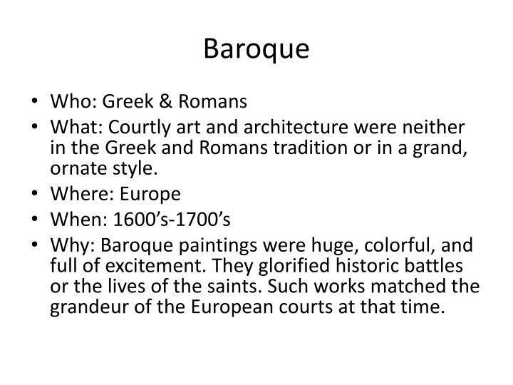 Baroque