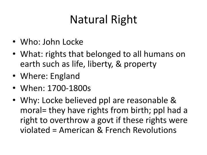 Natural Right