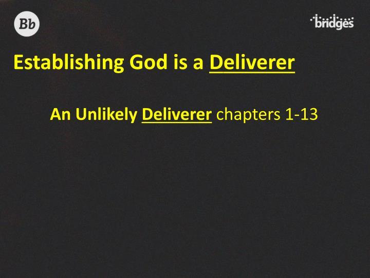 Establishing God is a