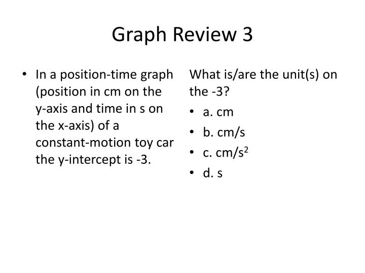 Graph Review 3