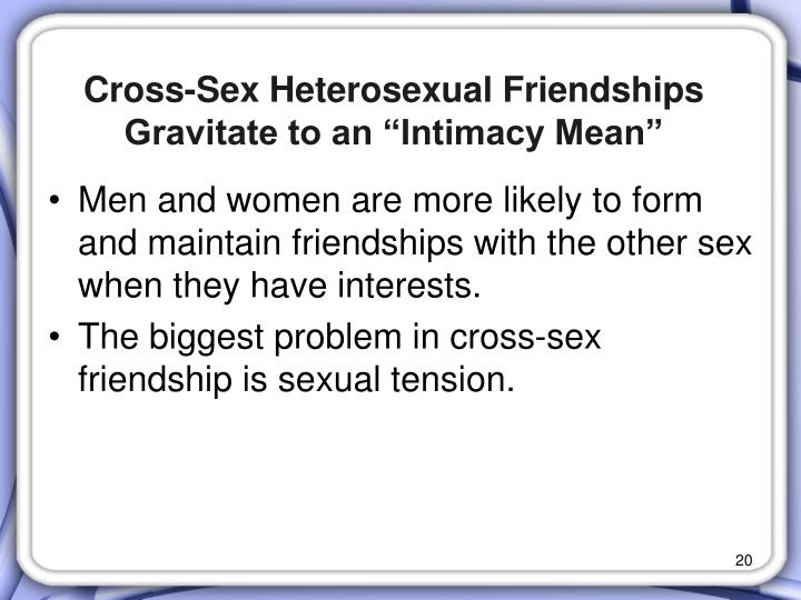 "Cross-Sex Heterosexual Friendships Gravitate to an ""Intimacy Mean"""