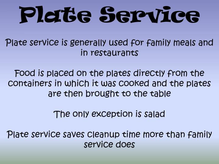 Plate Service