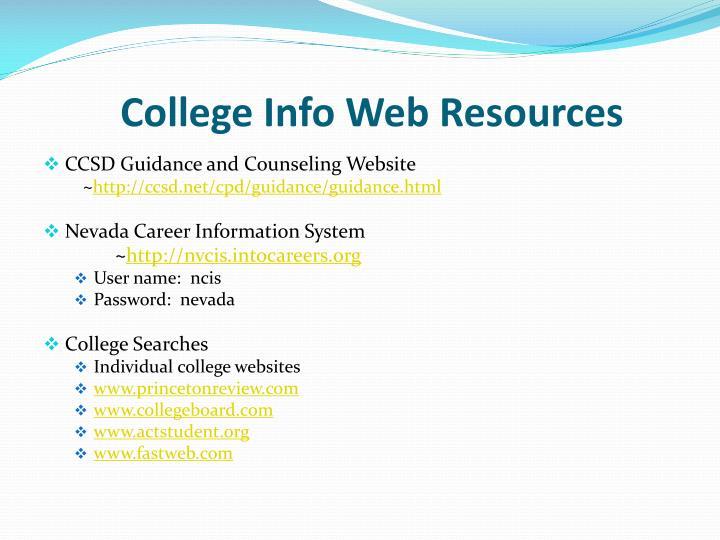 College Info Web