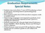 graduation requirements special notes