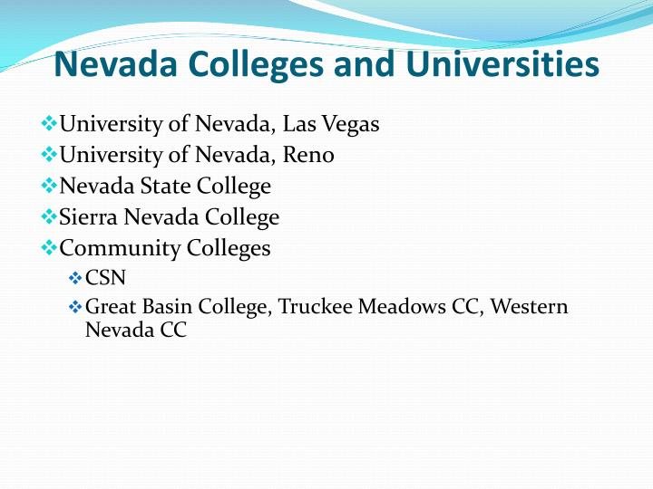 Nevada Colleges and Universities