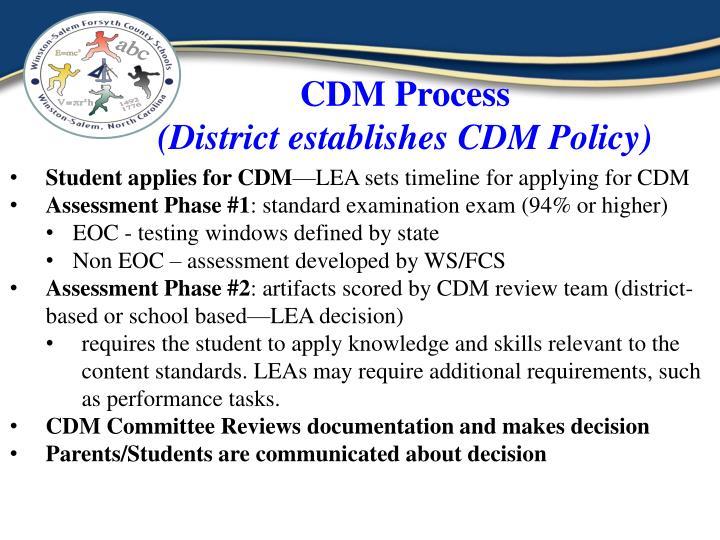 CDM Process